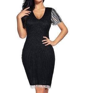 Dresses - NWOT Black 1920s Flapper Girl Gatsby Dress Costume